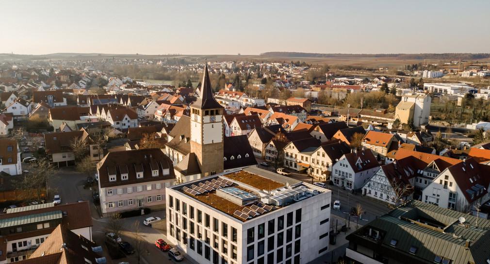 Blick auf die Gemeinde Leingarten im Landkreis Heilbronn.